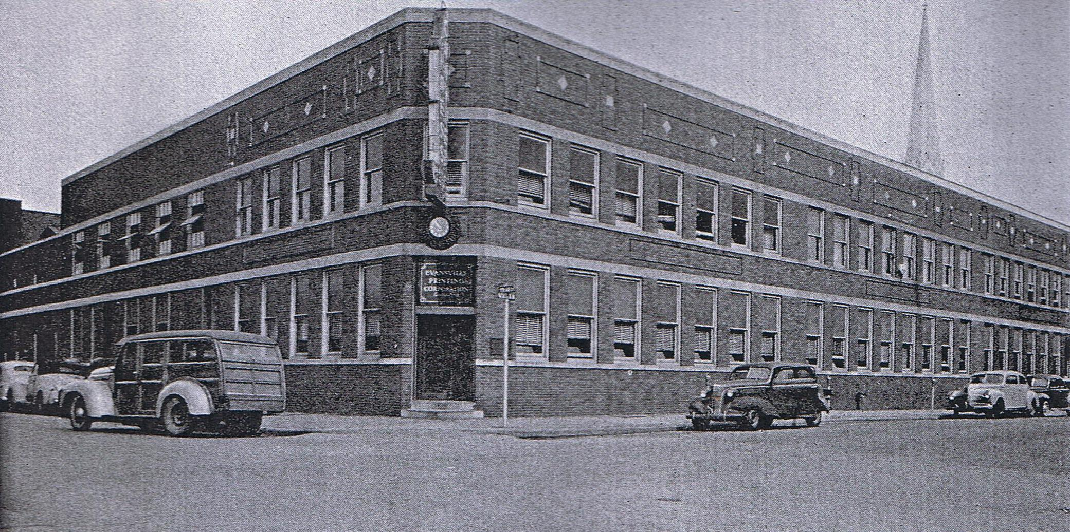 Elegant Evansville Press, The Home Of The Courier 1940s