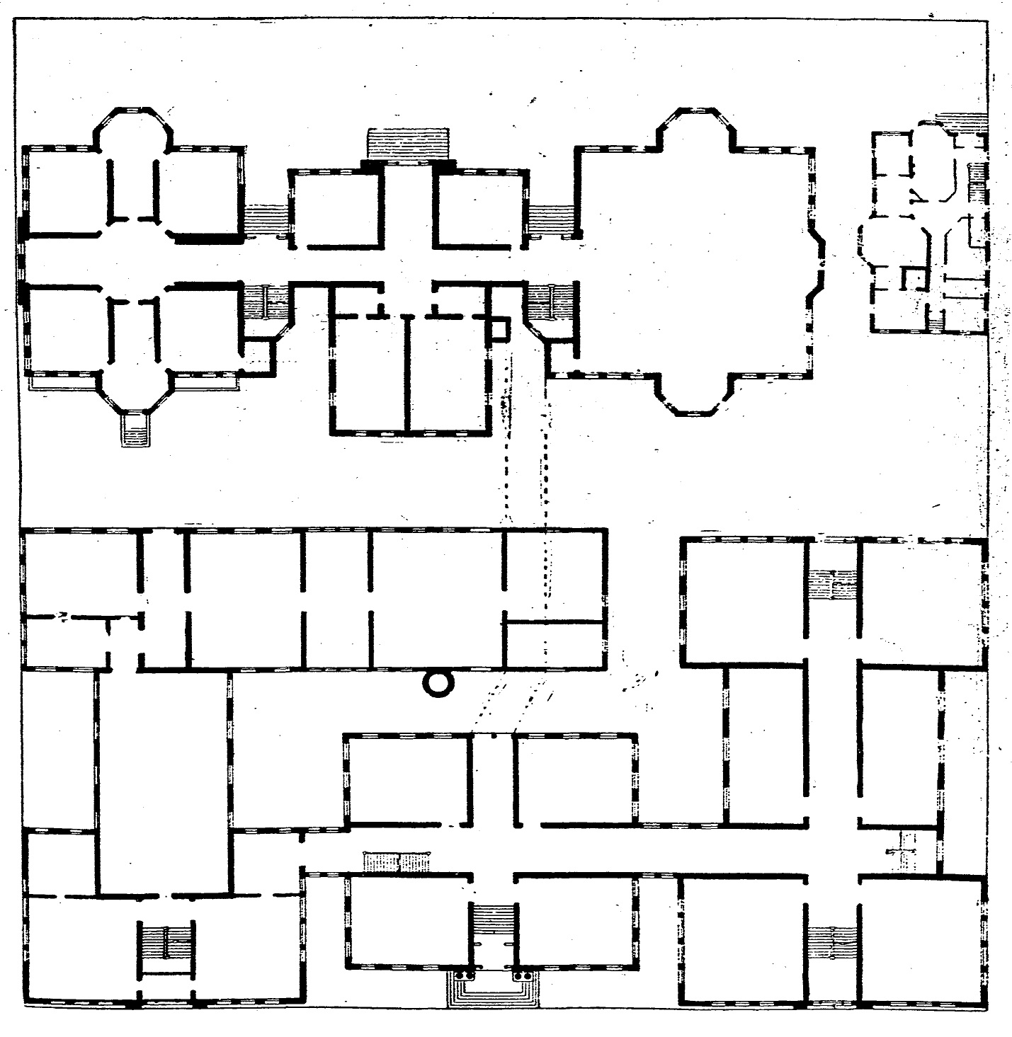 image educational old central floor plan jpg maj a c rosencranz s plan for occupying high school square