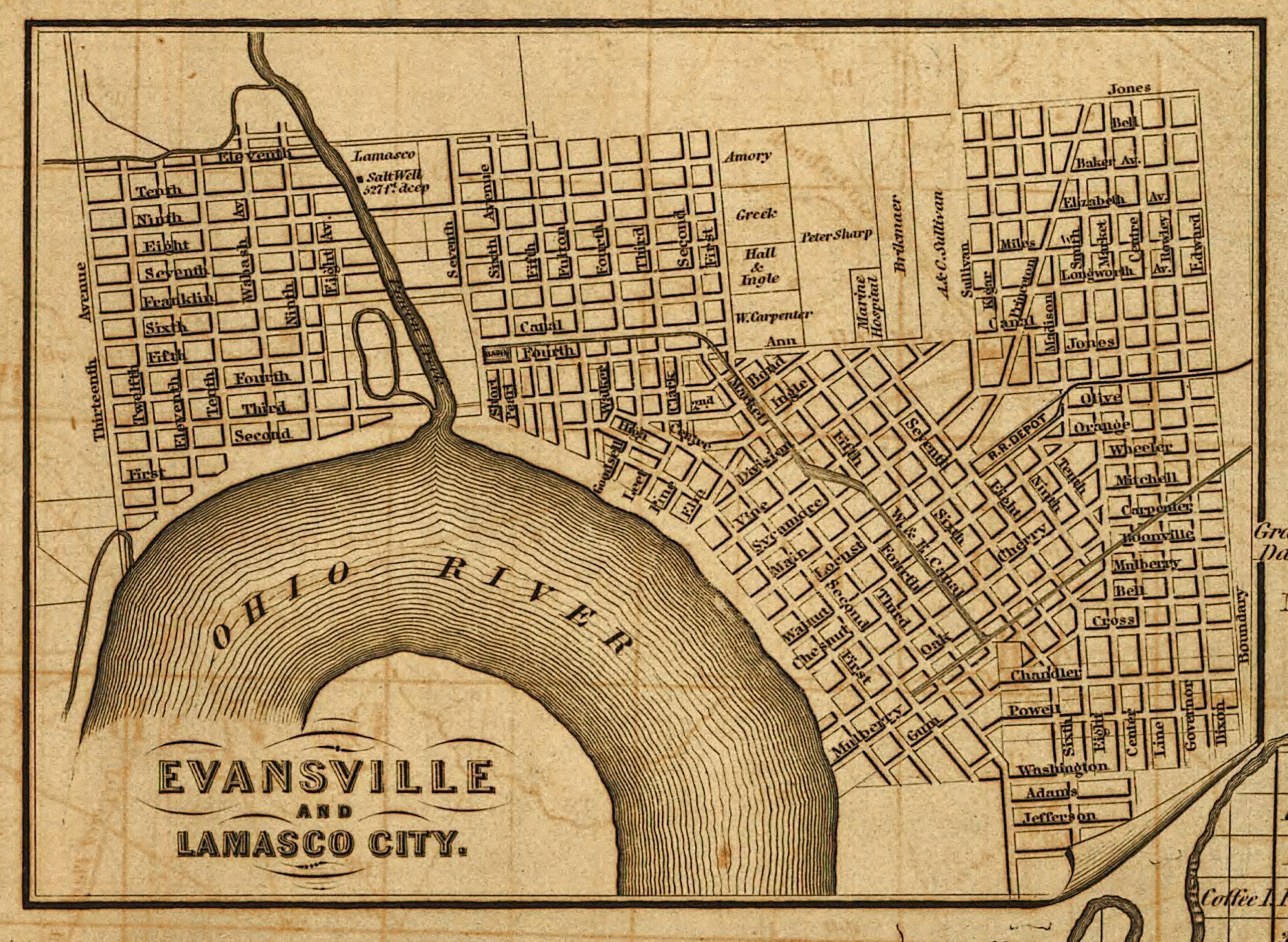 Historic Evansville - Maps on indiana maps and directions, indiana richmond map, hamilton county indiana map, indiana landscape map, indiana white map, indiana map with cities, indiana building map, indiana people map, andrews indiana map, indiana court map, indiana freeway map, indiana sports map, shipshewana indiana map, indiana locality map, indiana parcel map, indiana lakes map, columbus indiana map, downtown wisconsin dells area map, indiana entertainment, indiana detour map,